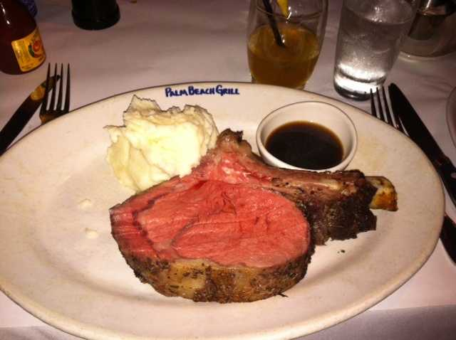 #17 - Her favorite food is prime rib, medium rare.