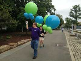 Many groups have come together to make this celebration possible, and what is a party without balloons!