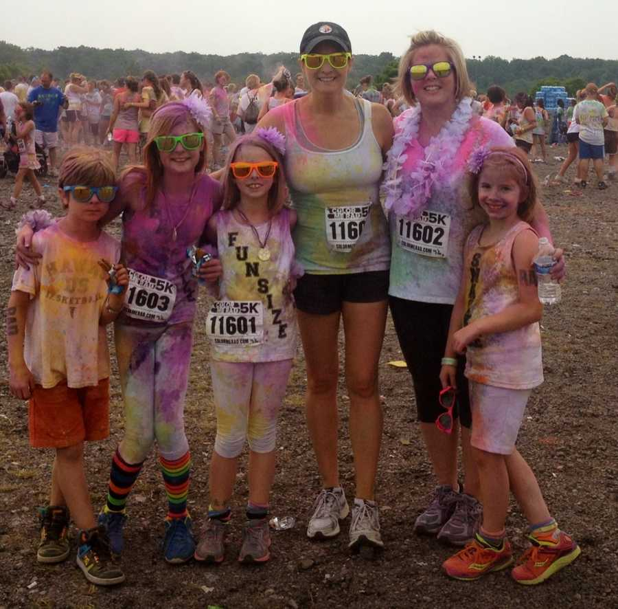 """Runners themselves were coated with color as well. The Color Me Rad race is part of a national trend that adds the element of """"color bombing."""""""