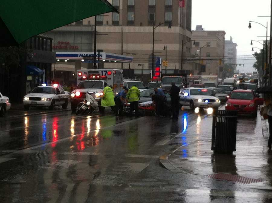 The patient was identified as a motorcycle officer from the University of Pittsburgh Police Department.