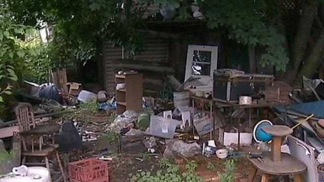 debris in yard
