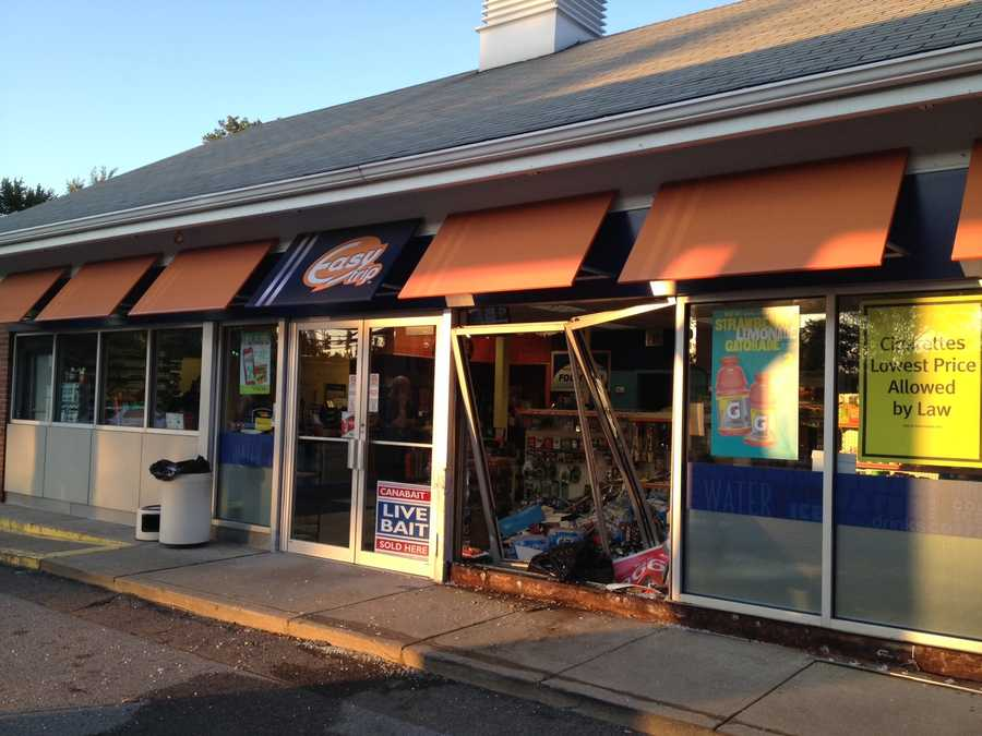 A driver who thought she was in reverse accidentally crashed into a BP convenience store on Perry Highway in Ross Township on Friday afternoon.