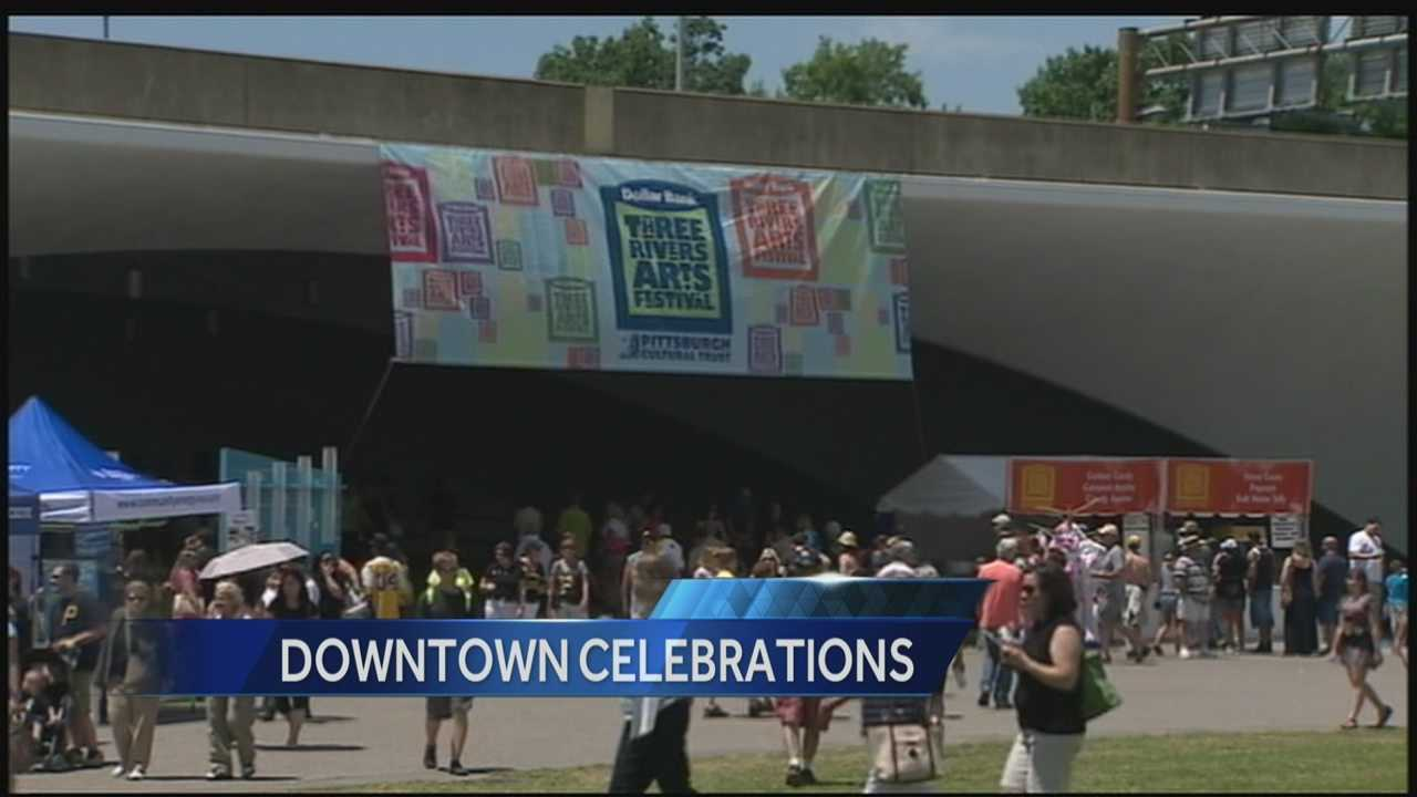Thousands of people and families filled downtown Pittsburgh for several events such as the final weekend of the Three Rivers Art Festival, Pirates Game, and the kick-off to Pittsburgh PRIDE.