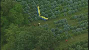 A small plane went down in a rural area of Young Township, Indiana County.