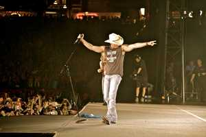 """Kenny Chesney's """"No Shoes Nation 2013"""" Tour will be raising it's Flag At Heinz Field on June 22nd! Check out this photo from his Boston stop."""