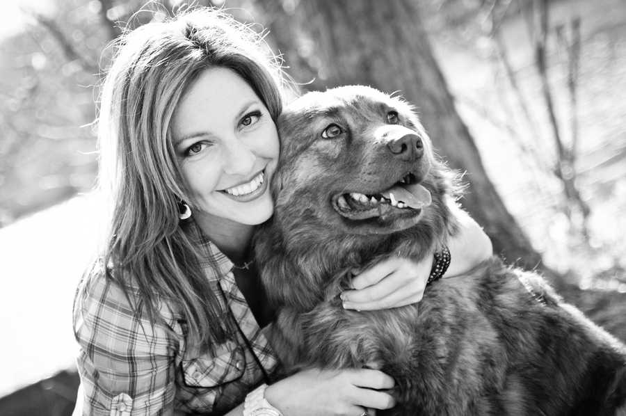 And here she is sharing a photo op with her dog, Bubba. Ashley adopted him from an animal shelter in Ohio.