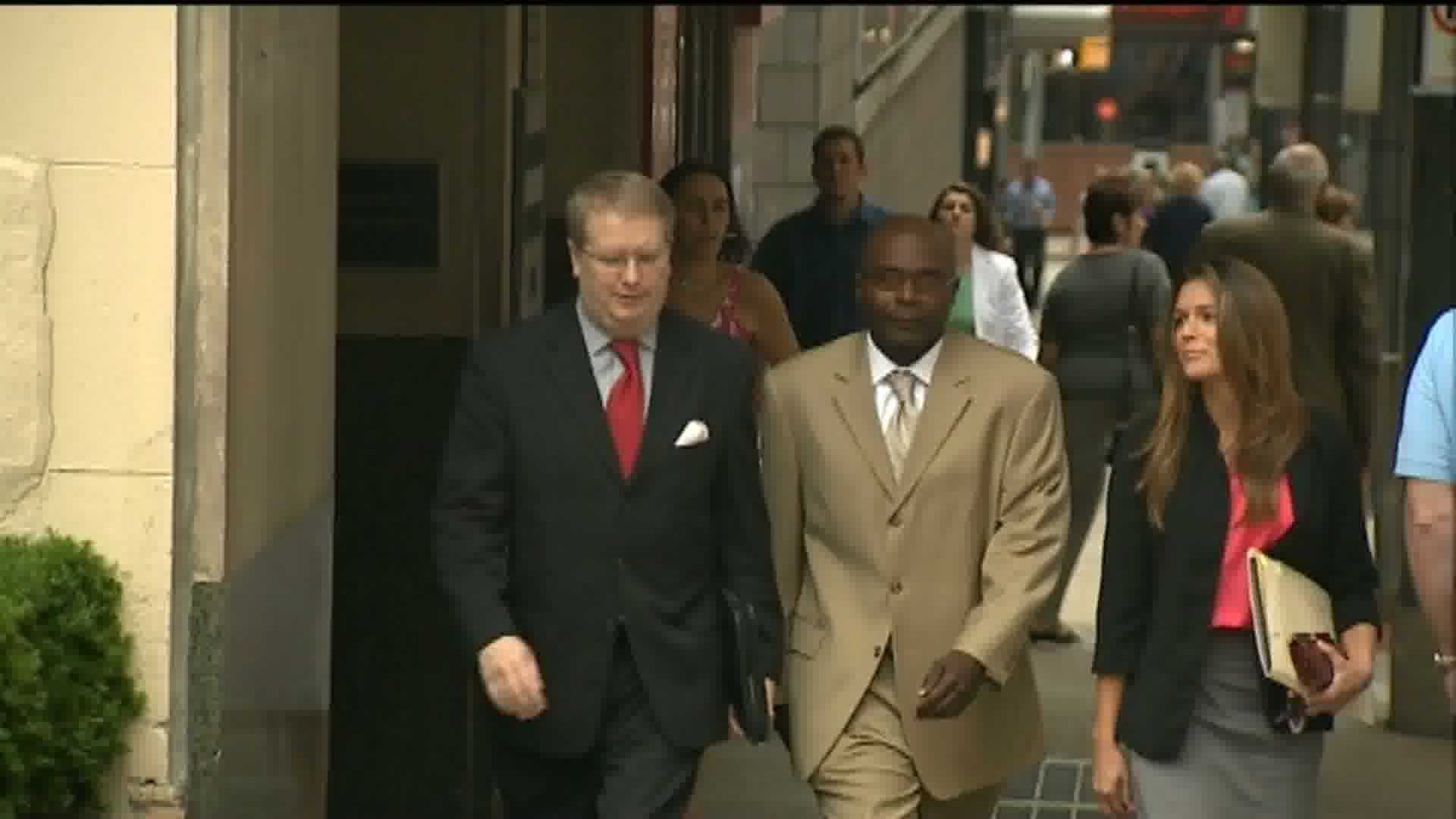 Fred Crawford Jr. with his lawyer.