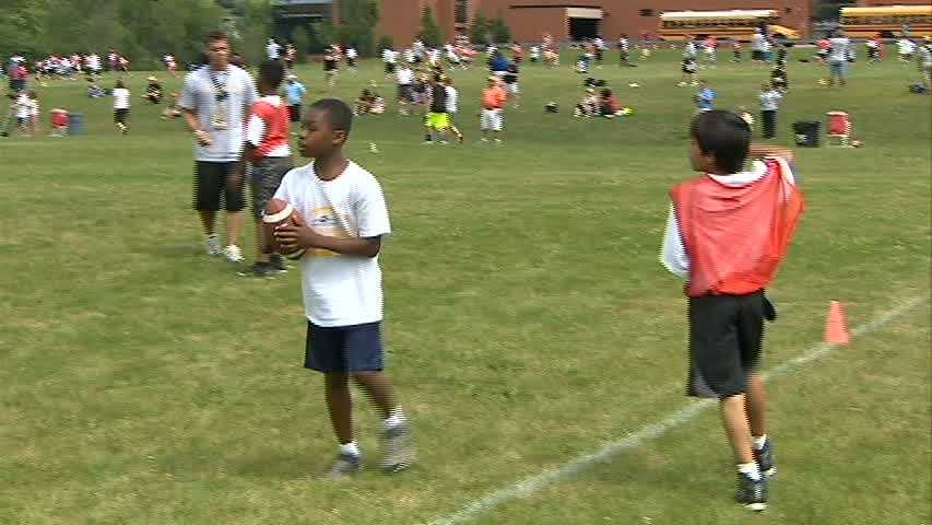 Jason enjoyed competing against other teams in the Ben Roethlisberger Football Camp, and the opportunity to work on the game he loves despite his physical challenges.