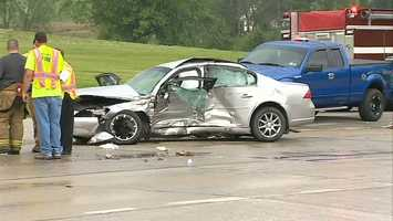 The wreck happened about 3:40 p.m. at the intersection of Moyer Road and Route 119 in Bullskin Township.