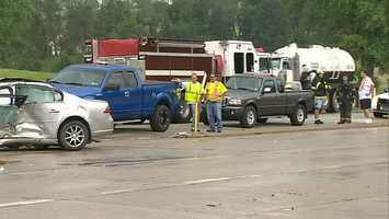 A 76-year-old man was killed Tuesday afternoon in a multivehicle crash in Fayette County.