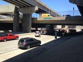The East Ohio Street overpass on Interstate 279