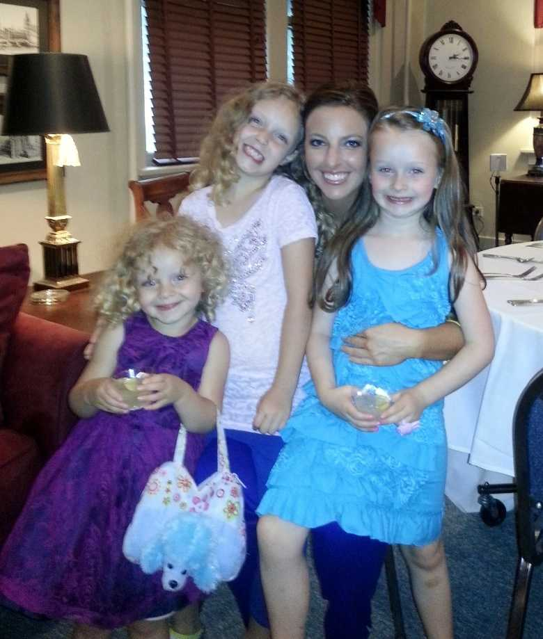 Ashley loves being an aunt to her three nieces.