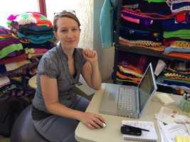 Amanda Gross, creator of the Knit the Bridge project.