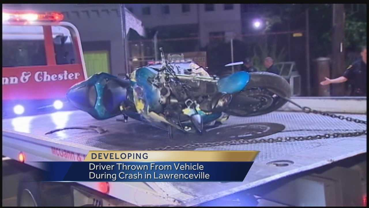 Motorcycle crash in Lawrenceville