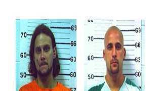 Mug shots of Jason Roe (left) and Rocco Iacovone (right)