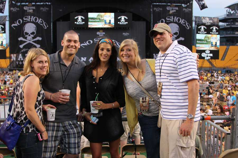 Check out photos from inside Heinz Field right before the start of Kenny Chesney's set...