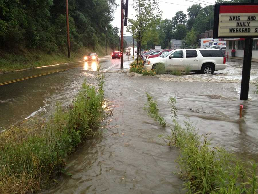 Flooding on Rodi Road in Penn Hills