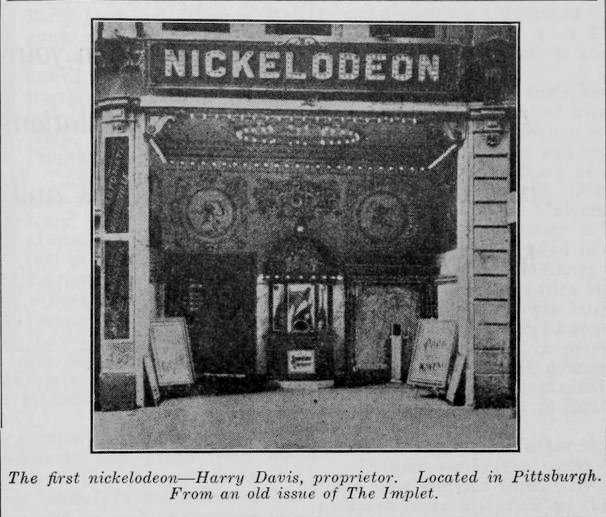 Pittsburgh's Nickelodeon theater open in 1905 and was the United States first moving picture theater.(Carnegie Library of Pittsburgh)