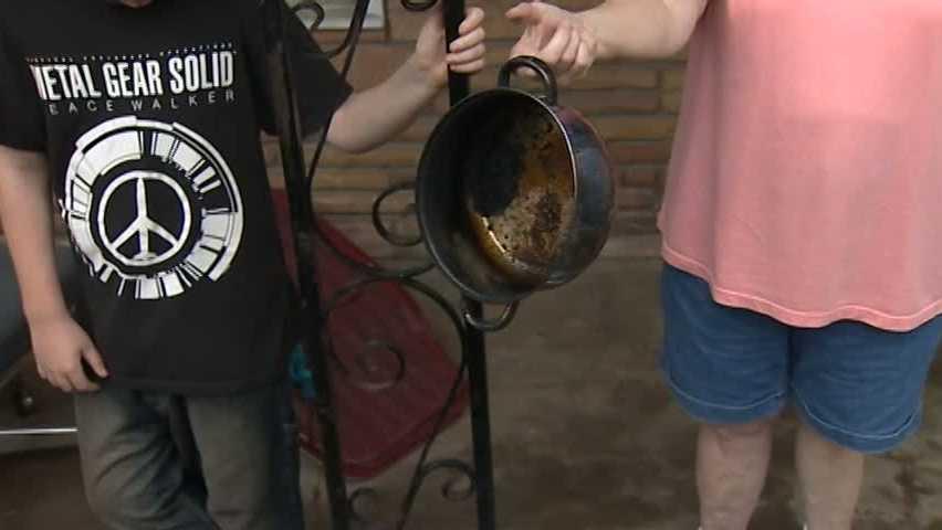 Burned pan