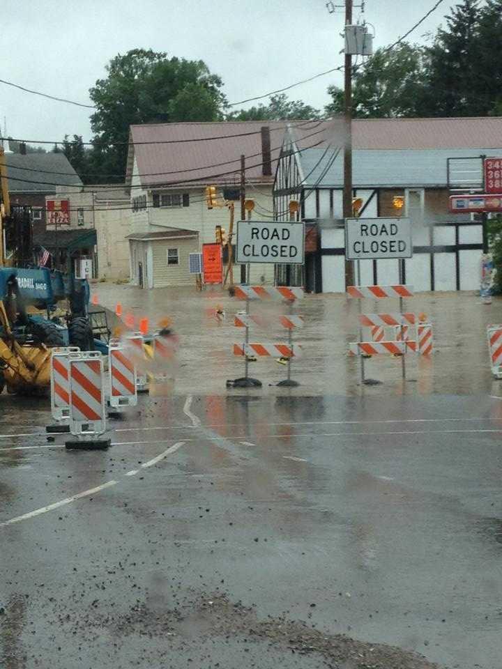 Sykesville bridge flooding