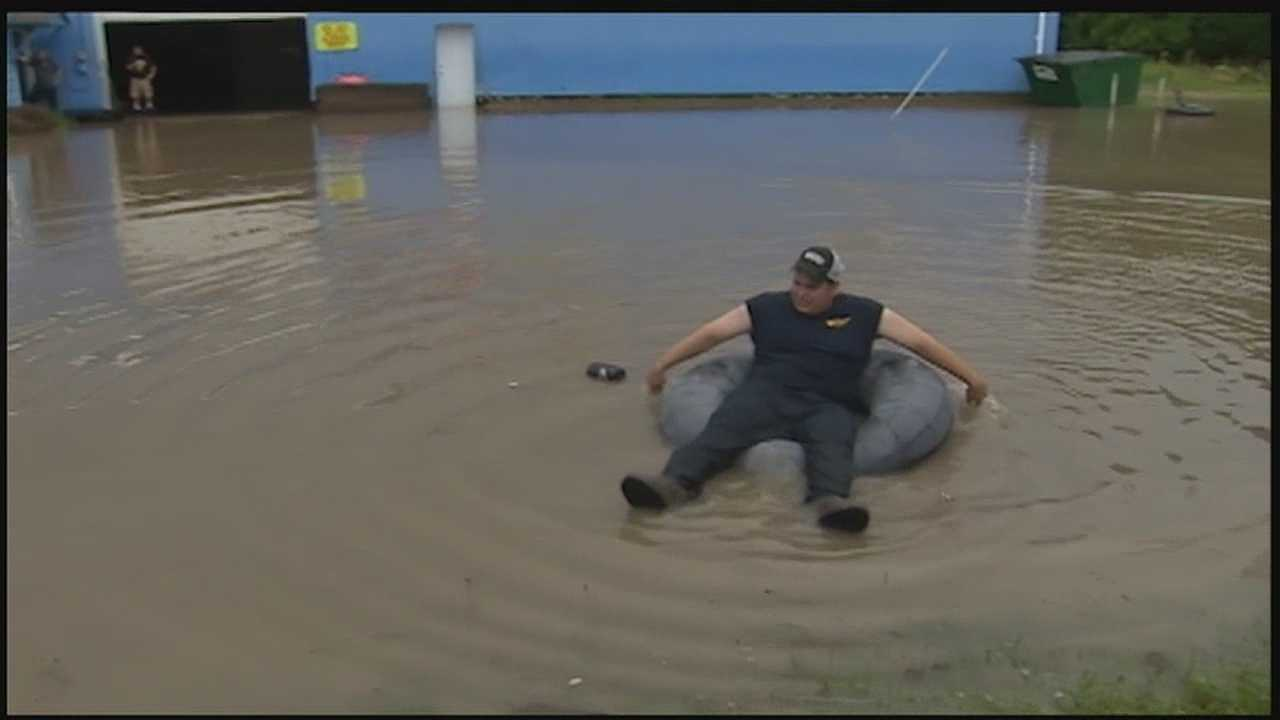 Flood waters are receding after an afternoon shower caused Catfish Creek to swell in Washington. Action News' Ashlie Hardways has the latest on its extent.