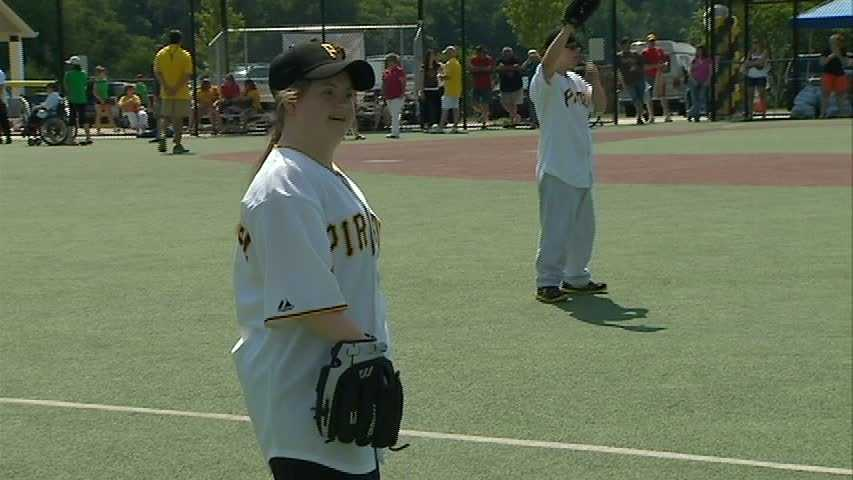 Each child also received a custom Pirates jersey.
