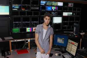 Justin in the Directors area of Studio Control