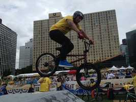 The BMX Bike Stunt Show is a good time at the Regatta.