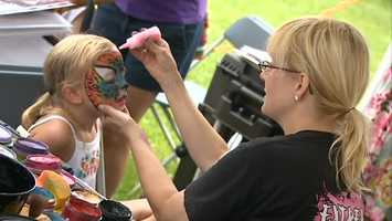 Kids enjoy getting their faces painted.
