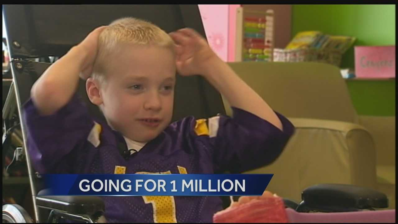 Action News' Wendy Bell has an update on the progress of one little special boy to reach one million fans on Facebook!