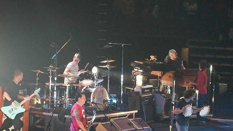 Pearl Jam performing in Hamilton, Ontario, Canada, in 2011.