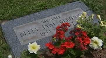 A grave marker for Betty Jane Berquist