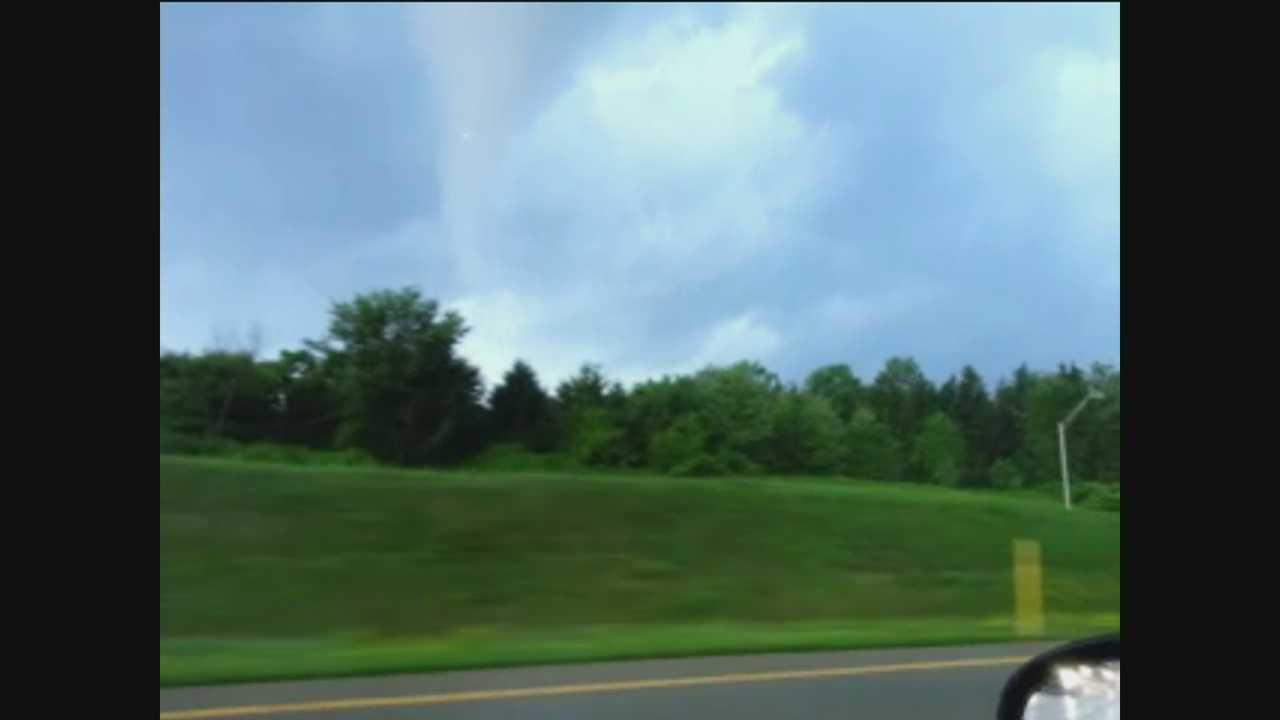 A WTAE viewer shot video of the funnel cloud in Lawrence County this afternoon.