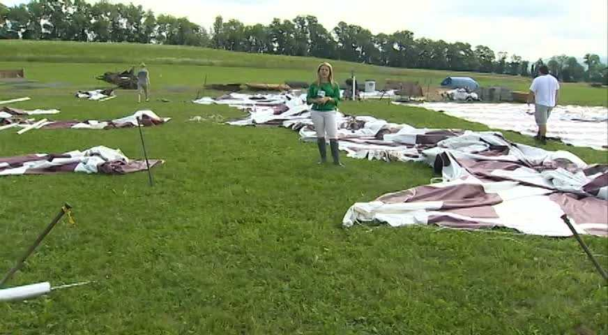 WTAE's Ashlie Hardway reports from the middle of the damage scene at the Derry Township Agricultural Fair.
