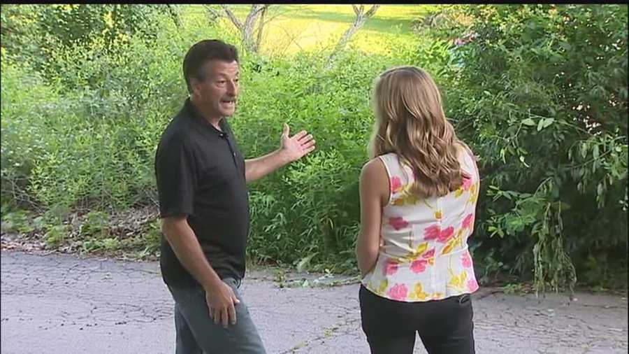 Chloe went across the street and alerted neighbor Michael Brock, leading him to the back yard.