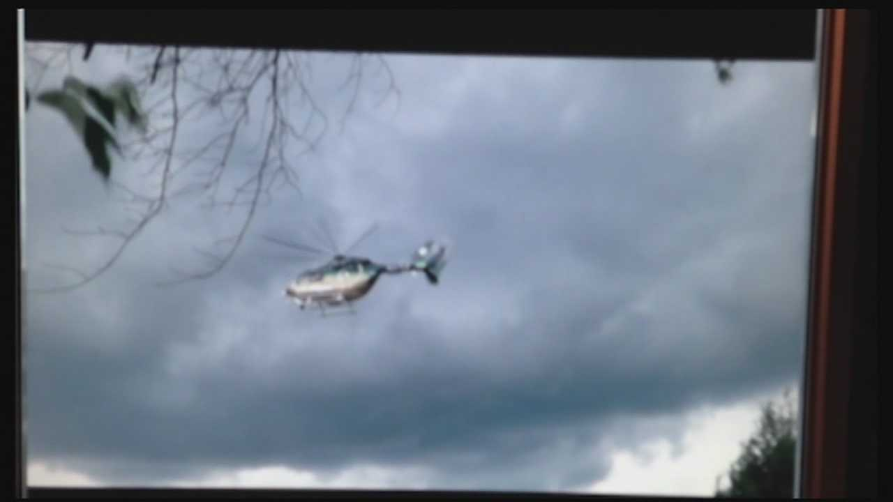Neighbors in New Castle fed up with noise and flight path of hospital's helicopters
