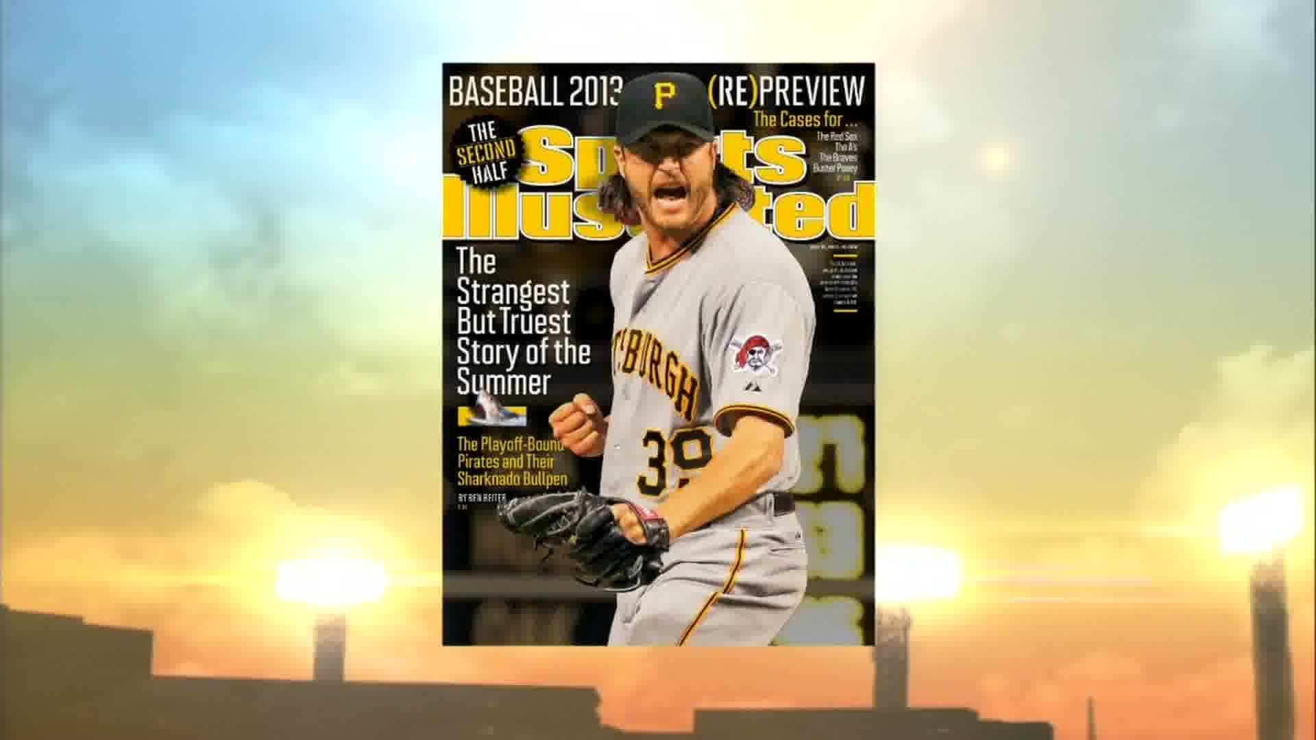 Jason Grilli was announced as the next Sports Illustrated cover subject during the All-Star Game.