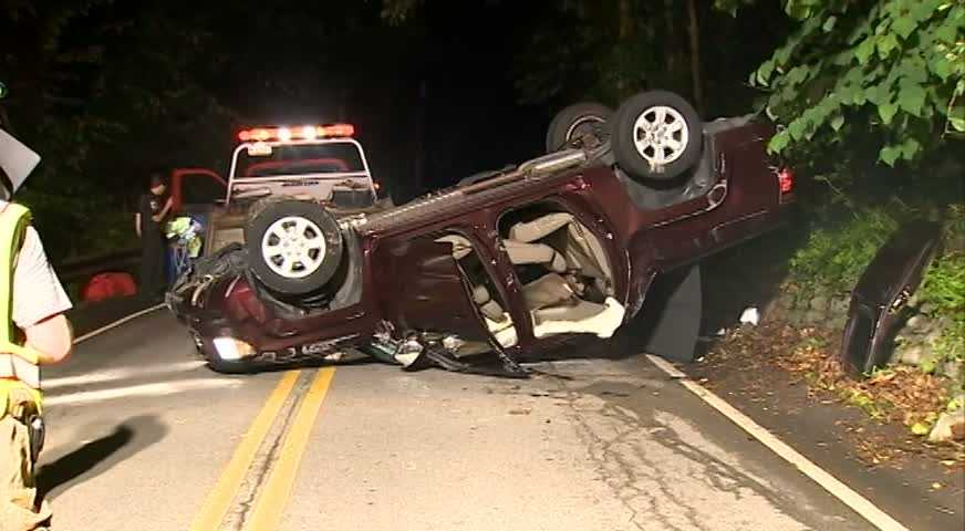 One person was pulled from the wreckage of a car crash Tuesday night in Fox Chapel.