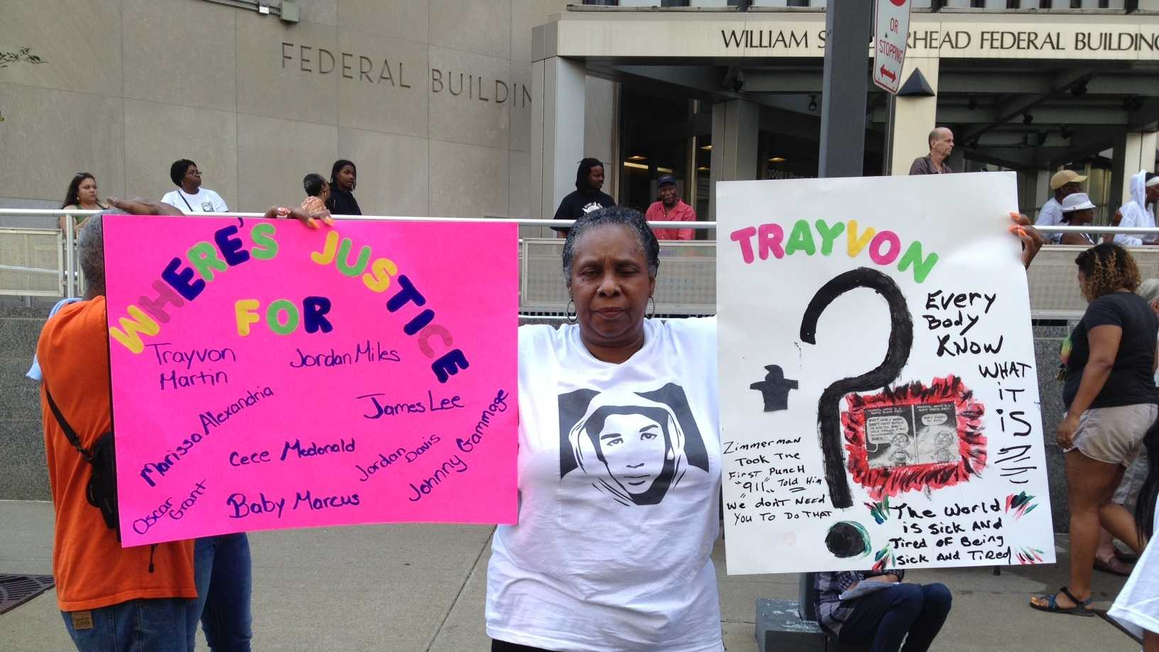 Justice for Trayvon rally in Pittsburgh