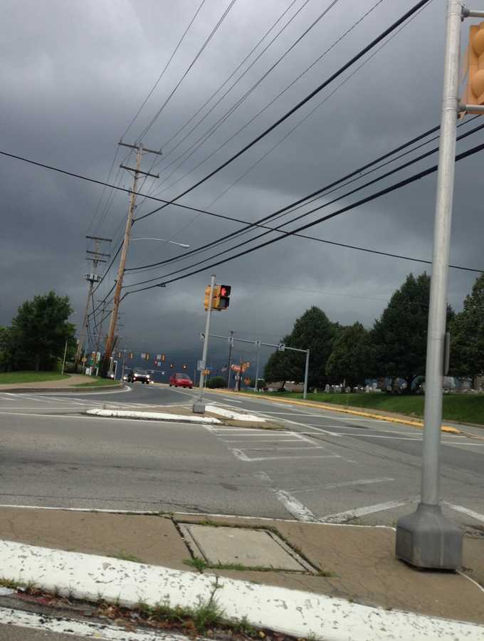 Several WTAE viewers shared their weather photos Monday on u local. Here's the storm rolling in, as seen from Monroeville Boulevard.