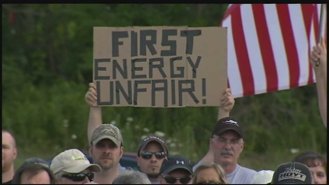 Plant closure protest