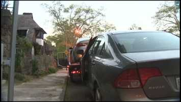 Pittsburgh police towed two cars away from Dr. Autumn Klein's house in Oakland after her death.