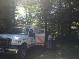 A bloody trail sparked a police search that led to the discovery of a body in Lawrence County on Thursday afternoon.