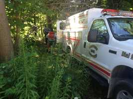 The search, which covered ground and water, lasted more than nine hours before the body was found at the lower end of Slippery Rock Creek, about 150 yards from where the search began.