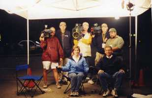 One of Michelle's proudest professional moments was covering the Quecreek mine rescue in 2002. She was there for four days, telling the amazing story of nine miners who were trapped underground. Here is a shot of the behind-the-scenes crew.