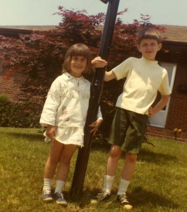 Another childhood photo of Michelle and Randy.