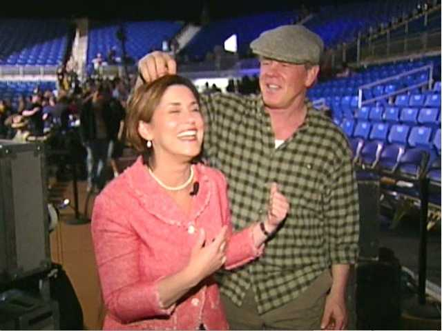 """Michelle's most bizarre interview was this one with Nick Nolte (watch the video) while he was filming """"Warrior"""" at the Petersen Events Center. He wouldn't let her get through it for too long before tickling the top of her head. Nolte went on to win an Academy Award for his role in this movie."""