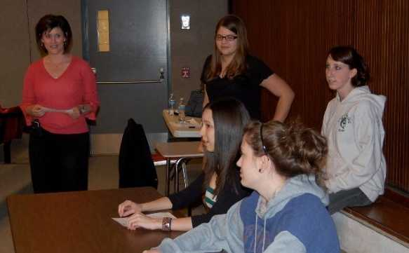 She often gives workshops to high school students about what it takes to get into the broadcast news industry.