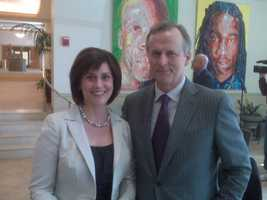 John Grisham is one of her favorite authors. She once got to interview him in Pittsburgh.