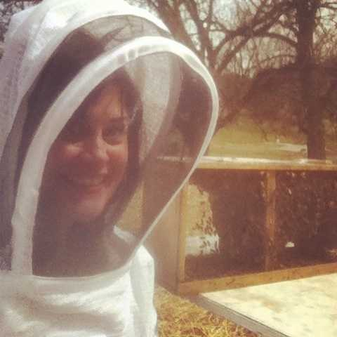 """Friends keep telling her she's crazy, but Michelle has an unusual hobby: beekeeping. (Watch Video)Her honey is called """"The Wright Stuff"""" -- a name suggested to her by WTAE viewers on Facebook. Her mentor, Jim Fitzroy, taught her everything she knows. She's still amazed that he doesn't wear a protective suit."""